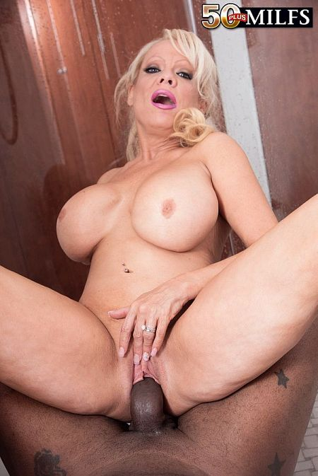 Blonde SoCal MILF meets big, black cock