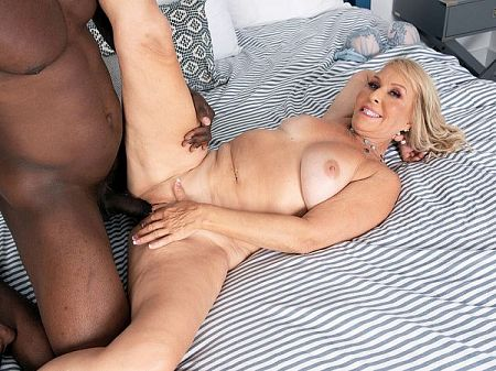 Sandy's surprise: a big, black cock to fuck!